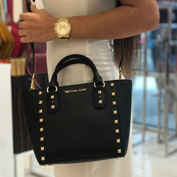bffb97b932987b Michael Kors Bags | Sandrine Pyramid Stud Mini Crossbody | Poshmark
